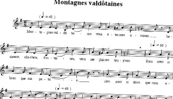Montagnes Valdôtaines, the popular song become the Valle D'Aosta anthem