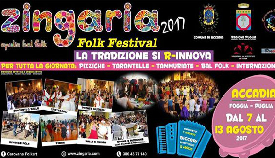 Zingaria Folk Festival, ad Accadia la XXII edizione