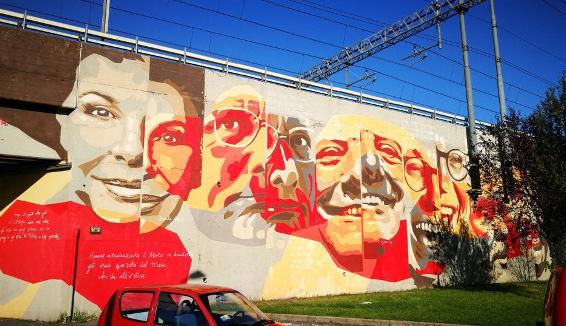 Milano: un murales per i magnifici 7 della musica popolare milanese