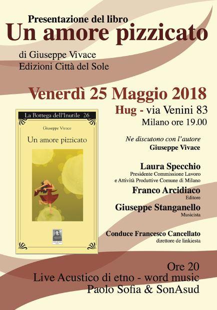 """L'amore """"pizzicato"""" di Giuseppe Vivace @ Milano"""