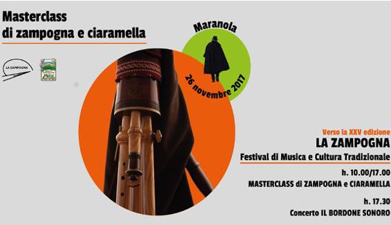 Masterclass di Zampogna e Ciaramella a Maranola