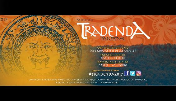 Tradenda Folk Festival: 10° edizione con tante novità
