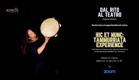 Tammurriata, laboratorio di danza popolare, Workshop Ballo sul Tamburo: gli eventi Koros