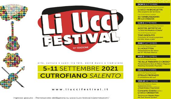 Li Ucci Festival: dal 5 all'11 Settembre a Cutrofiano l'XI edizione