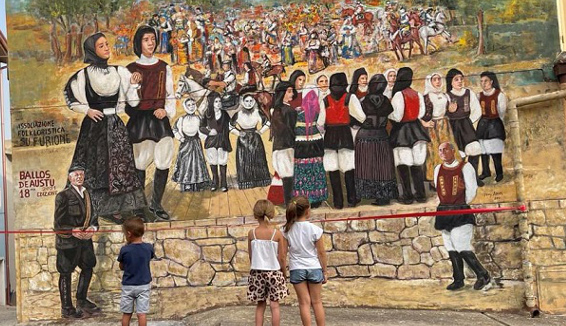 "La Magia di ""Ballos de Austu"" in un murale"
