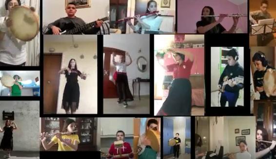Tammurriata cantata e ballata a distanza: il video di una scuola del napoletano